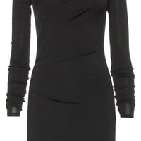 T By Alexander Wang Black Hooded Mini Bodycon Dress