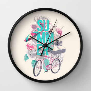 Summer Wall Clock by Ariana Perez