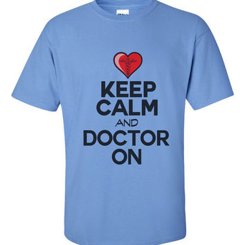 Mens Keep Calm and Doctor On - Gift Got Doctor - Surgeon Or Anyone in Hospital - Dentral Doctor - Nurse Present - Gift For Husband 2192