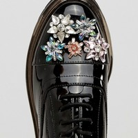 ASOS MAYFLOWER Embellished Flat Shoes at asos.com