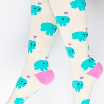 Manatee Knee High Socks