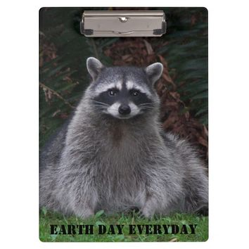 Earth Day Forest Raccoon Photo Clipboard