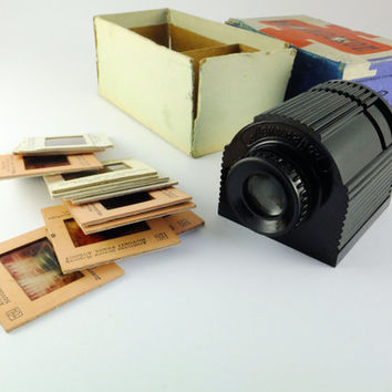Vintage Russian Diascope Slide Viewer 35 mm Photography Slide Viewer Film Viewer Black 35 mm, Accessory For Photography St Petersburg, CCCP