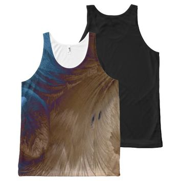 Golden Feathers All-Over Print Tank Top