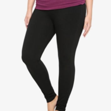 Torrid Women's Fold-Over Skinny Yoga Pant