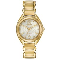 Ladies' Citizen Eco-Drive Dress Gold-Tone Watch