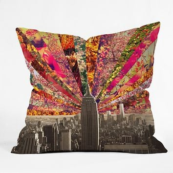 Bianca Green Blooming NY Throw Pillow