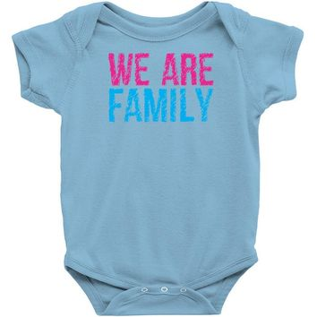 we are family Baby Onesuit