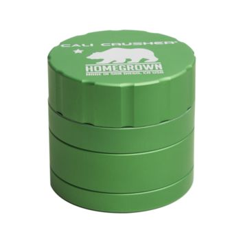 Homegrown Grinder by Cali Crusher - 4 Piece Aluminum - 2.35 Inches - Assorted Colors