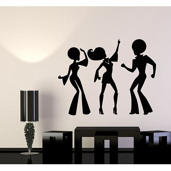 Vinyl Wall Decal Disco Party Dancing Time Music Night Club Stickers Mural (g2842)
