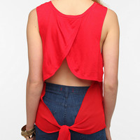 Daydreamer LA Chiffon Tie Back Tank Top
