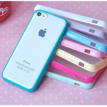 10 Colors Clear Matte Phone Case For iPhone 5c 4 6 6s 7 7plus