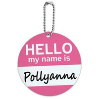 Pollyanna Hello My Name Is Round ID Card Luggage Tag