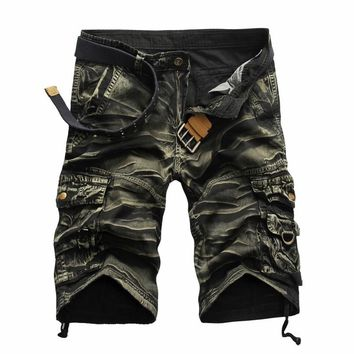 AmberHeard 2017 Summer England Style Men Short Pants Masculino Camouflage Cargo Military Shorts Casual Cotton Loose Outwear