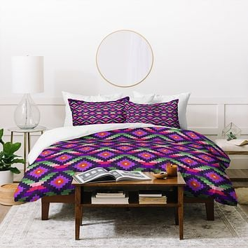Bianca Green Aztec Diamonds Fiesta Duvet Cover