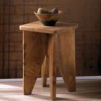 Arcadian Wood Accent Table or Stool
