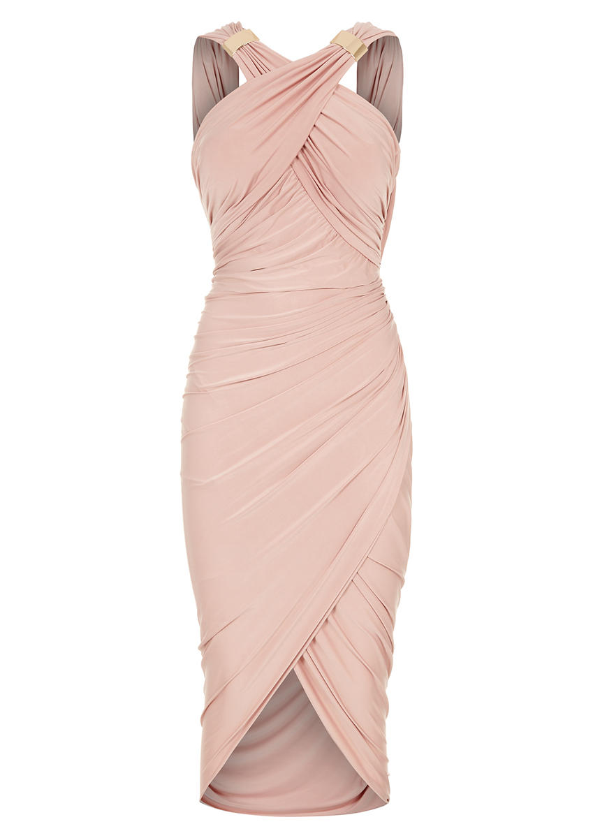 Mika Nude Drape And Wrap Dress From Foreverunique Co Uk Eu