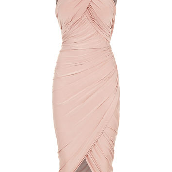 Mika - Nude Drape and Wrap Dress