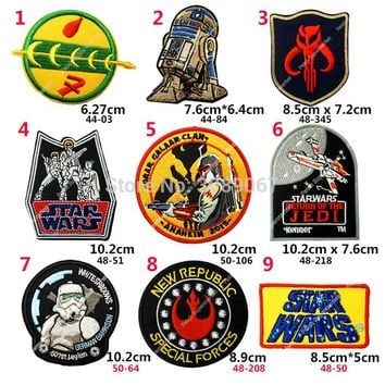 """Nine Different Badge Set 3.5"""" STAR WARS STORM TROOPER  Embroidered  Patches"""