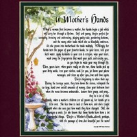 A Mother's Hands, #07, A Birthday Gift Present Poem For A Mother Daughter Grandmother