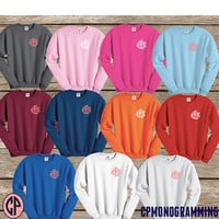 YOUTH Monogram Children Sweatshirt Crewneck, Monogram Sweatshirt, Monogrammed Gift, Kids Sweatshirt, Kids Crew, Birthday Monogram Gift