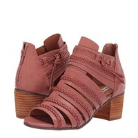 Not Rated - Cullie Open Toe Chunky Wooden Heel Sandal - Blush Rose