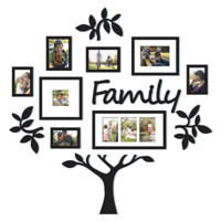 "WallVerbs™ 13-Piece ""Family"" Tree Set in Black"