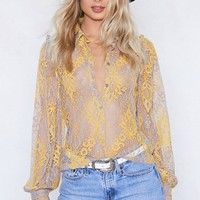 Sheer Me Through Lace Shirt