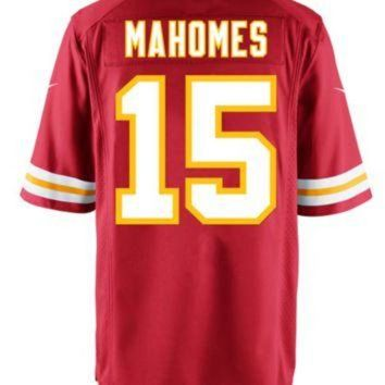 PEAP1N Men's Kansas City Chiefs #15 Patrick Mahomes II Red Nike NFL Elite Jersey