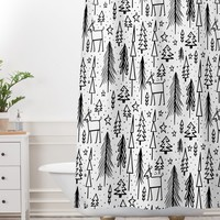 Heather Dutton Winter Wonderland White Shower Curtain And Mat