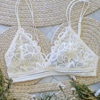 Fine Finesse Bralette - Cream
