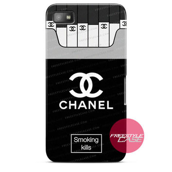 Chanel Coco Smoking Kills Blackberry Case Z10, Q10, Dakota Cover