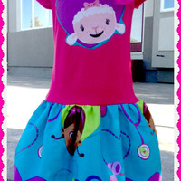 Doc McStuffins girls boutique applique twirl party Dress Birthday Surprise 4 5 6 7 8 10 XS S M L