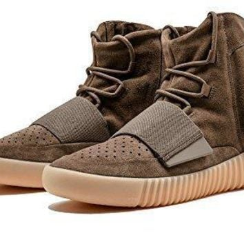 Adidas Mens Yeezy Boost 750 Kanye West Chocolate Brown/gum Suede