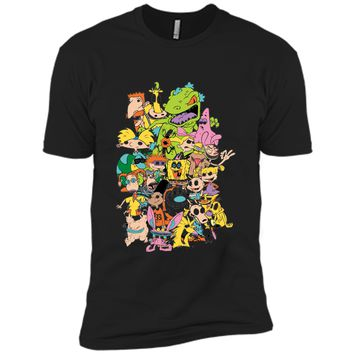 Nickelodeon Complete Nick 90s Throwback Character  Next Level Premium Short Sleeve Tee
