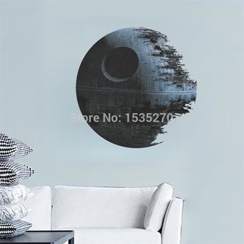 DEATH STAR ARTWORK Star Wars wall sticker for kids boys rooms Decal Removable wallpaper Home Decor Art Clone