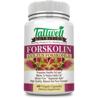 100% Pure Forskolin Extract - 250mg - Highest Grade Weight Loss Supplement for Men and Women - Appetite Suppressant, Energy Booster & Fat Burner - 60 Capsules