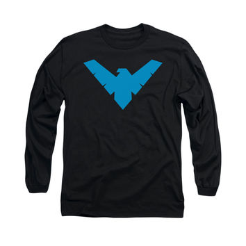 Nightwing Logo Mens Long Sleeve T-Shirt