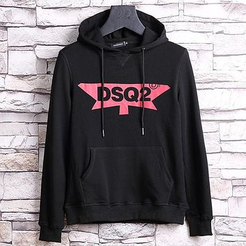 Dsquared2 Fashion Hooded Print Long Sleeve Top Sweater Hoodie