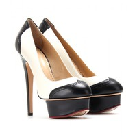 charlotte olympia - spectator dolly leather platform pumps