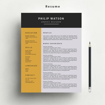 Resume Template with FREE Matching Cover Letter and Reference Letter