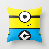 Minion Yellow Throw Pillow by whosyourdeddy | Society6
