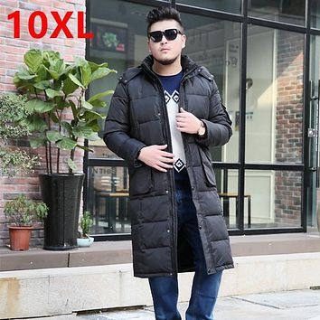 The winter jacket code knee Clubman tall X-LONG fat suit long cold air defense down jacket men