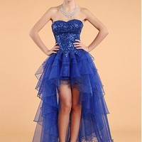 [48.99] In Stock Tulle Sweetheart Neckline Hi-lo A-line Homecoming Dress - Dressilyme.com