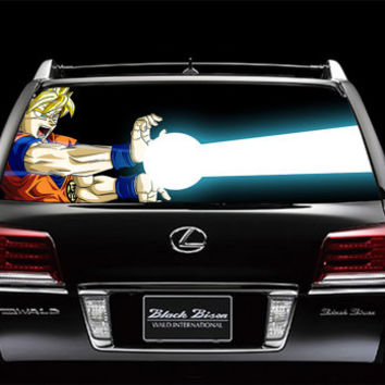 Perfik45 Full Color Print Perforated Film Truck SUV Back Window Sticker Dragon Ball Z anime