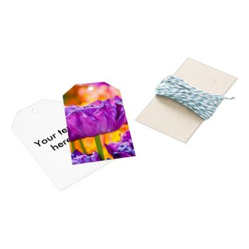 Tulips Enchanting Purple Gift Tags