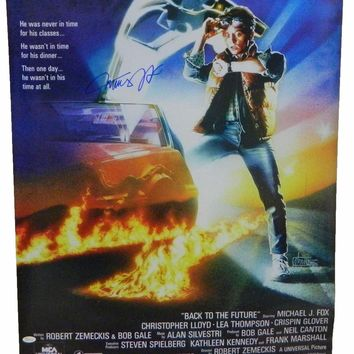"""Michael J. Fox Signed Autographed """"Back to the Future"""" 24x36 Movie Poster (JSA COA)"""