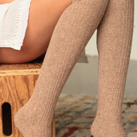 Warm and Wool Boot Socks (Camel)