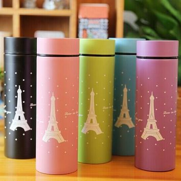 Eiffel Tower Insulated Travel Thermos Coffee Cup Tumbler 220ml (Pink, Blue, Green, Black, Purple)