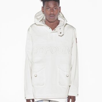 Triple Ghost Paneled Cargo Parka in Off-White